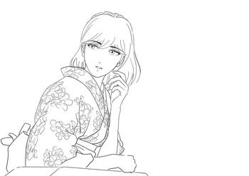 浴衣女性線画.jpg